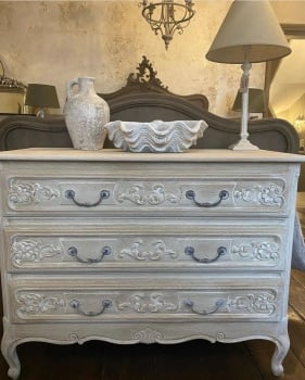 White washed french oak commode
