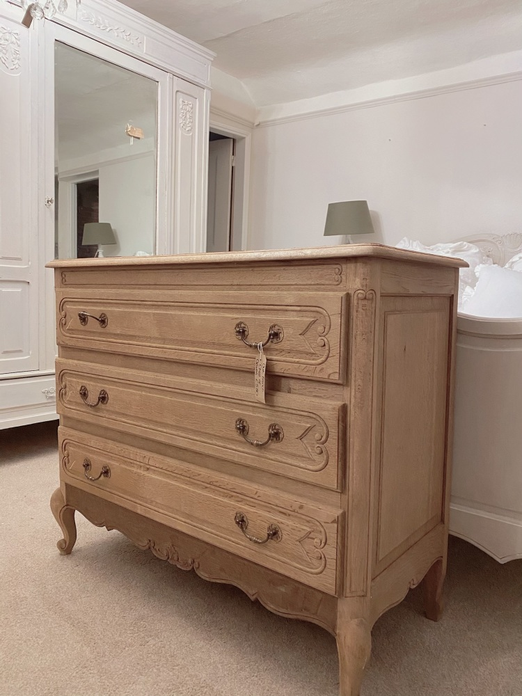 French oak commode chest of drawers