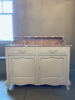 French painted washstand with marble
