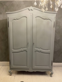 French armoire wardrobe colour is pigeon grey