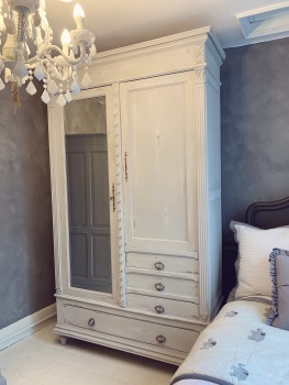 Paris Grey Armoire linen cupboard