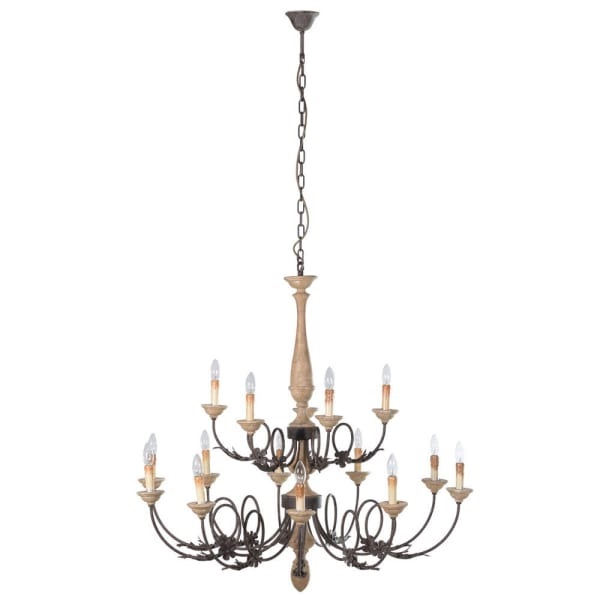 Large Rustic Wood & metal chandelier code vcch