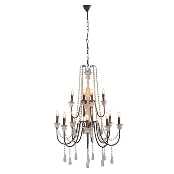 Large wooden beads Chandelier