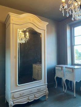French Louis Philippe mirrored armoire wardrobe