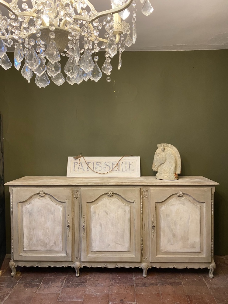 French Louis painted sideboard