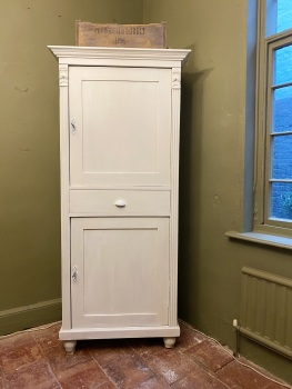 Dutch pine cupboard linen store
