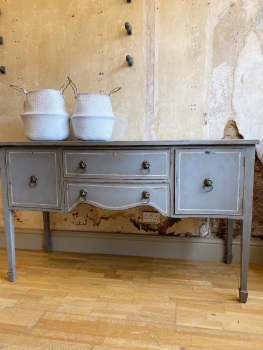 Hand painted sideboard with Lion head pulls