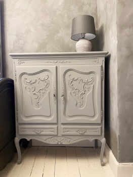 Painted french linen store cupboard