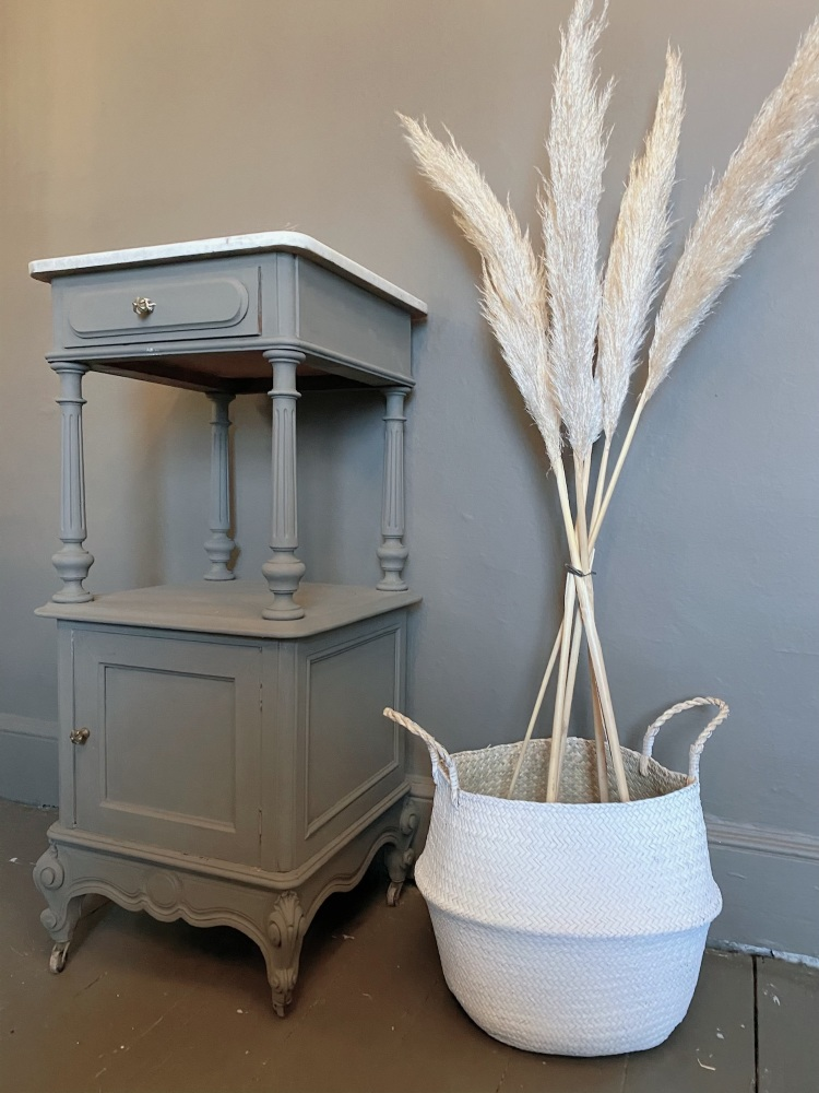 Antique French Louis xv pot cupboard with Carrara marble top