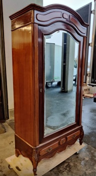 Antique French Phililppe mirrored armoire - Wardrobe