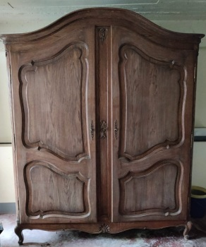 Large French Louis XV Armoire Wardrobe
