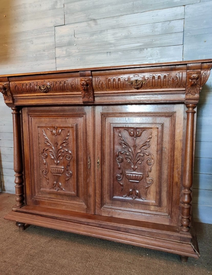 Ornate French renaissance cabinet