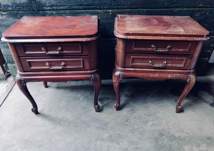 Pair of bedside tables matching