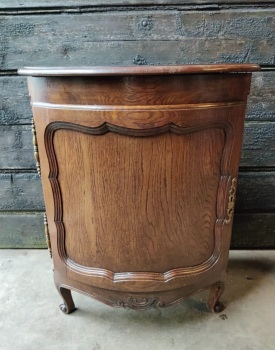 Bow fronted French Corner cabinet