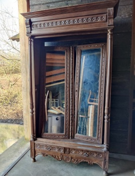 Ornate carved Armoire - wardrobe