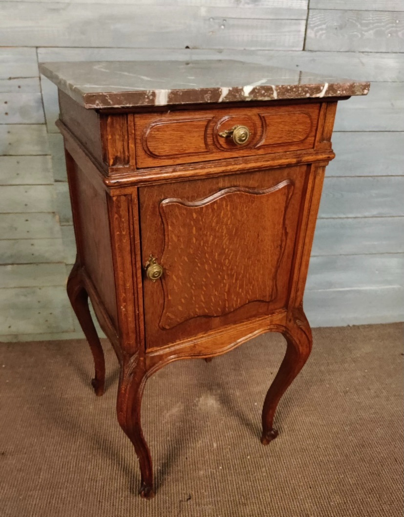 marble topped pot cupboard bedside
