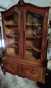 French Louis XV Display armoire - vitrine
