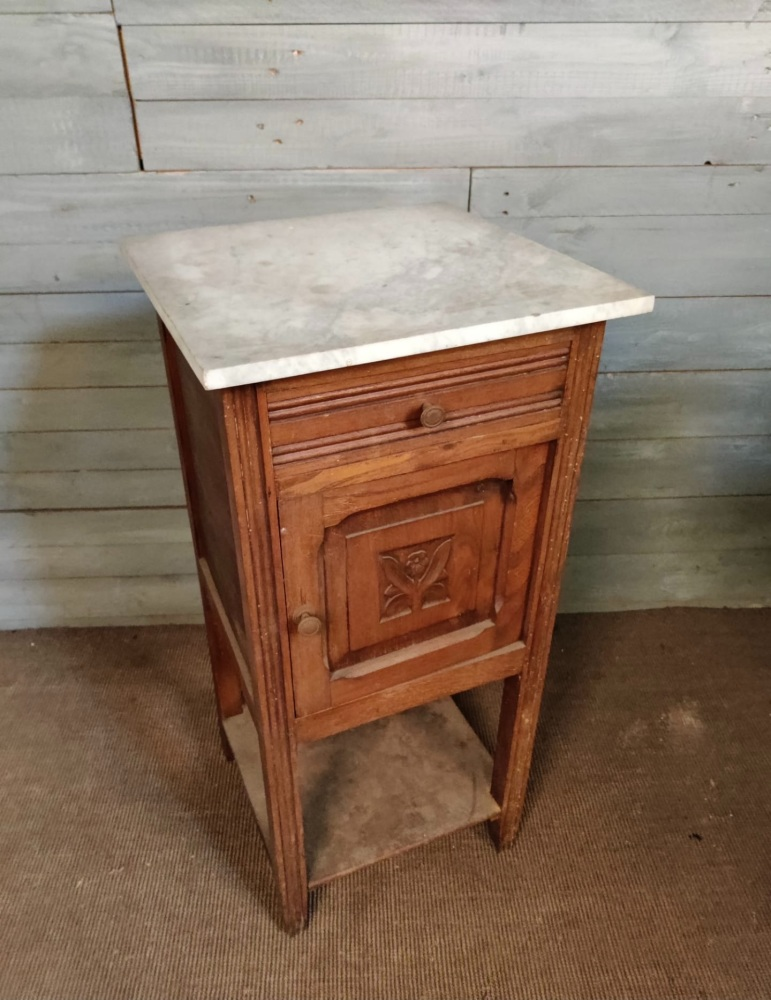 French Marble Top Pot cupboard