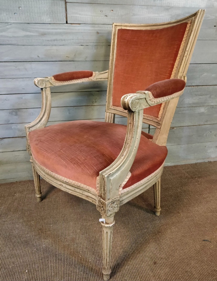 French painted Louis Armchair