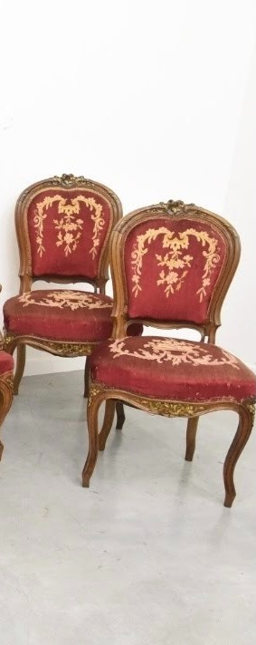 French Louis XV WALNUT CHAIR