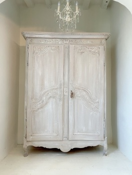 Antique 18c French Normandy wedding armoire