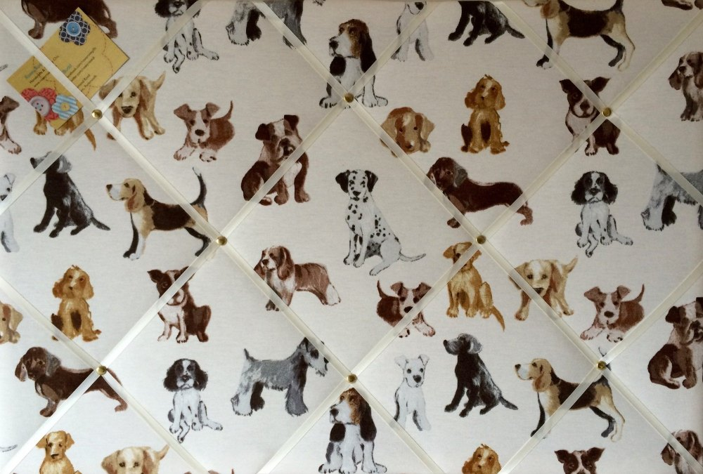 Large 60x40cm Prestigious Dog Hot Dogs White Ribbon Hand Crafted Fabric Not