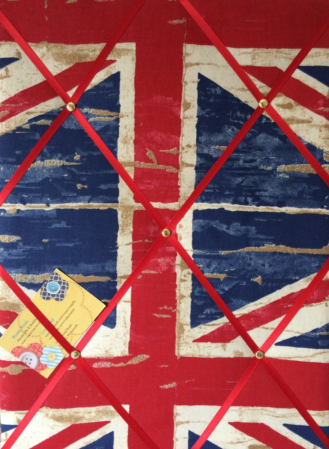 Medium 40x30cm Prestigious Union Jack England Flag Hand Crafted Fabric Noti