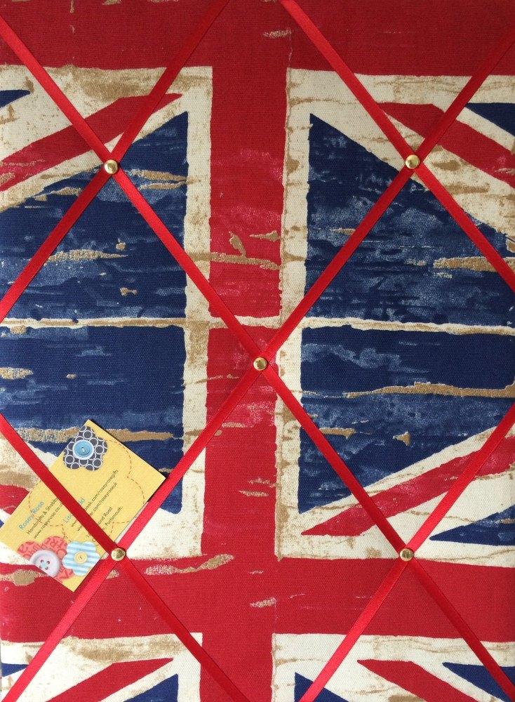 Medium 40x30cm Prestigious Union Jack England Flag Hand Crafted Fabric Noti