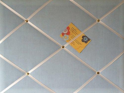 Medium 40x30cm Pale Blue Hand Crafted Fabric Notice / Pin / Memo / Memory B
