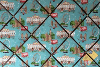 Large 60x40cm Cath Kidston London Scene Hand Crafted Fabric Notice / Pin / Memo / Memory Board