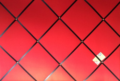 Extra Large 90x60cm Red with Black Ribbon Fabric Pin / Memo / Notice / Memo