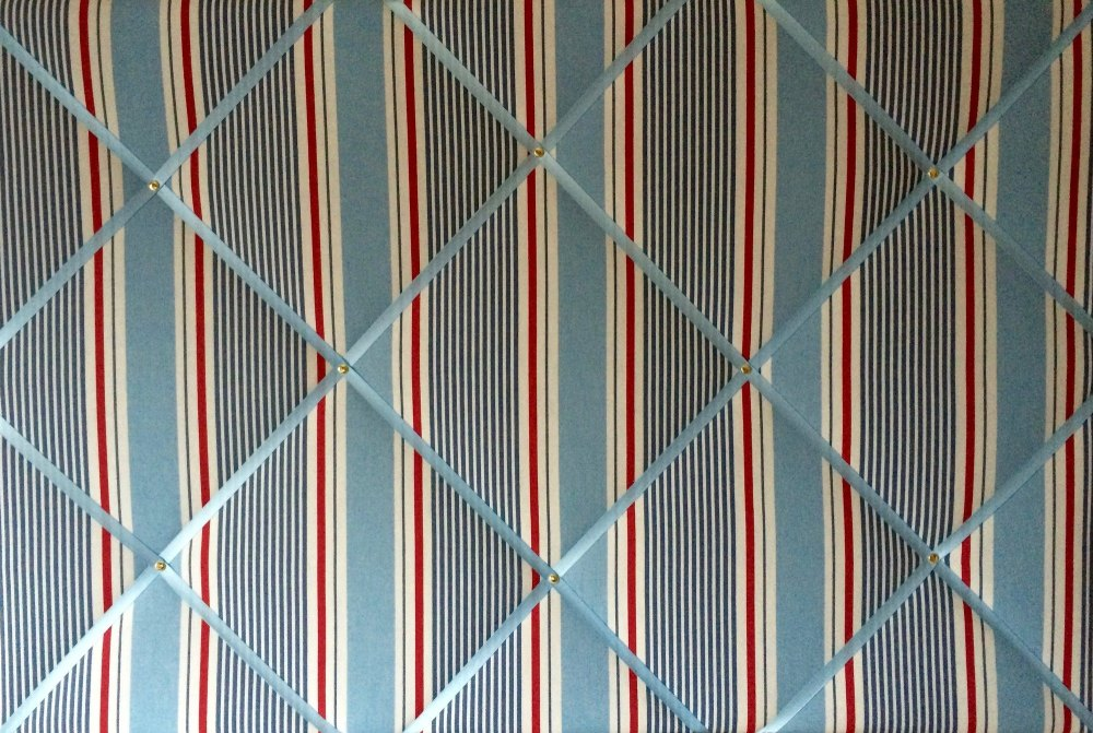 Extra Large 90x60cm Clarke & Clarke Marine Sail Stripe Nautical Fabric Pin