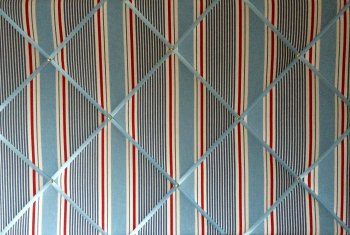 Extra Large 90x60cm Clarke & Clarke Marine Sail Stripe Nautical Fabric Pin / Memo / Notice / Memory Board