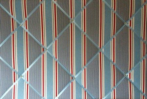 Extra Large 90x60cm Clarke & Clarke Marine Sail Stripe Nautical Fabric Pin