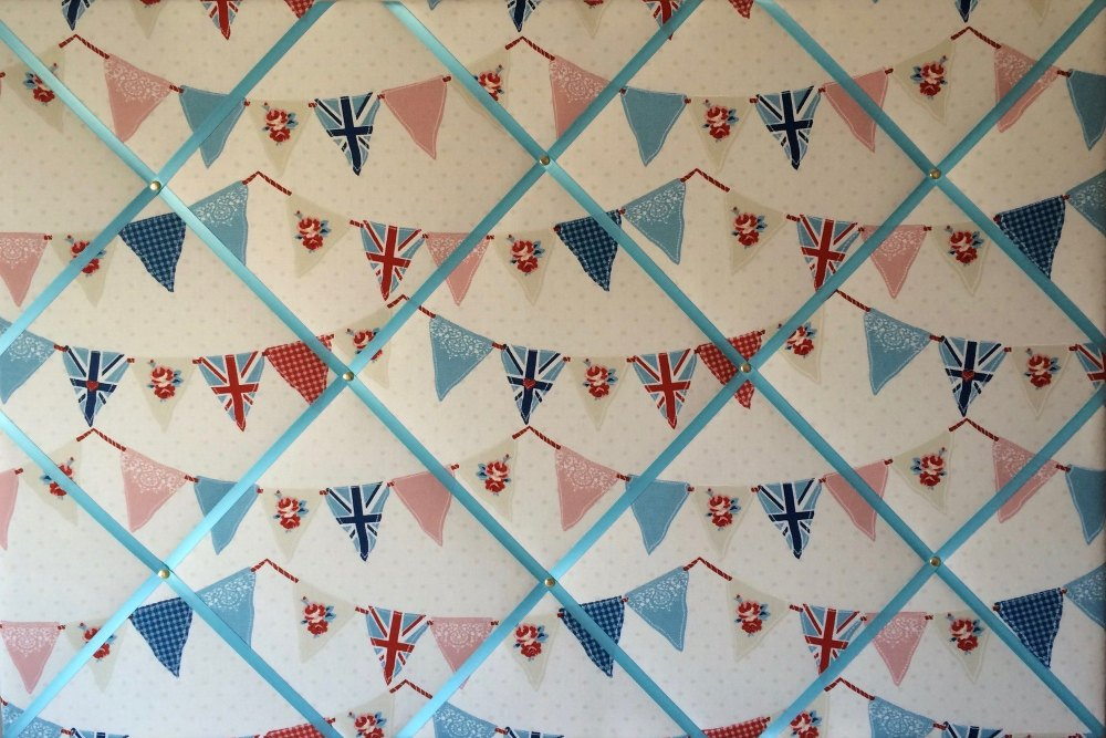 Extra Large 90x60cm Fryetts Blue Union Jack Bunting / Flag Fabric Pin / Mem