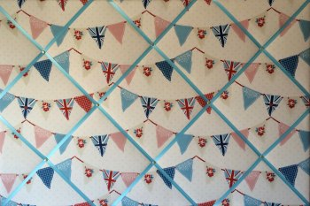 Extra Large 90x60cm Fryetts Blue Union Jack Bunting / Flag Fabric Pin / Memo / Notice / Memory Board