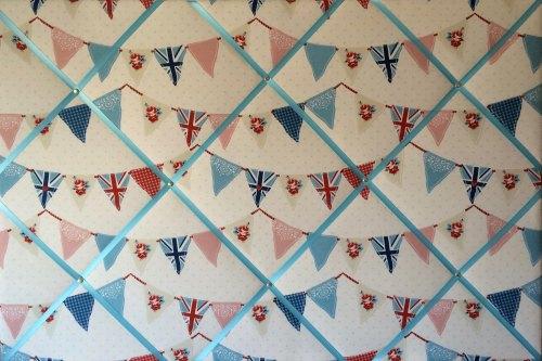Extra Large 90x60cm Fryetts Blue Union Jack Bunting / Flag Fabric Pin / Mem