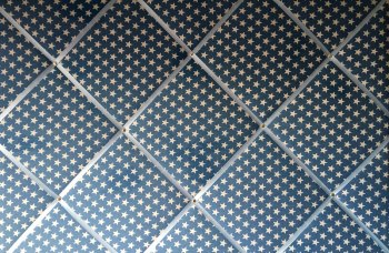 Extra Large 60x90cm Blue Denim White Star Fabric Pin / Memo / Notice / Memory Board
