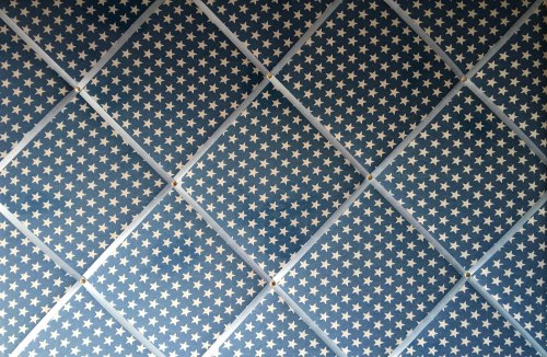 Extra Large 60x90cm Blue Denim White Star Fabric Pin / Memo / Notice / Memo
