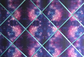 Extra Large 60x90cm Purple Space Stars Galaxy Fabric Pin / Memo / Notice / Memory Board