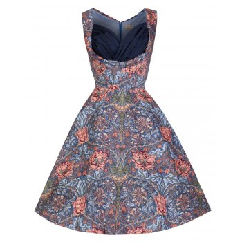 LINDY BOP 'OPHELIA' ENCHANTING FLORAL PRINT 50'S INSPIRED SWING DRESS