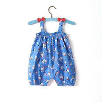 LINDY BOP 'Baby Romper' Blue Bowling Romper Suit
