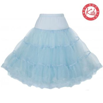 LINDY BOP CHILDRENS Pale Blue Petticoat / Underskirt for use with Children's Mini Lindy Bop Dresses, to give volume & a flash of colour