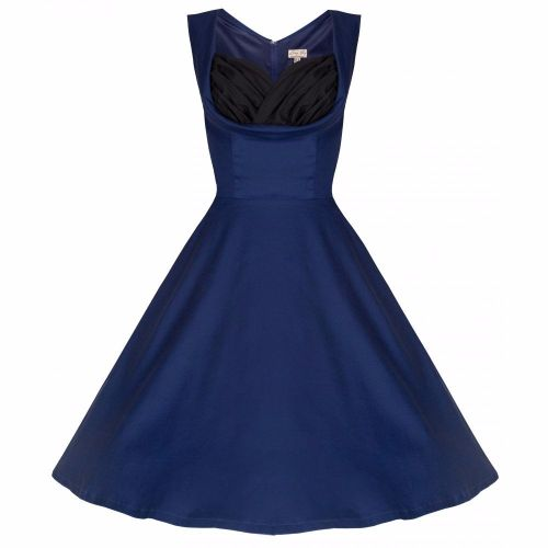 Lindy Bop Ophelia Vintage Inspired 1950's Midnight Blue Prom Swing Dress