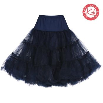 LINDY BOP CHILDRENS Navy Blue Petticoat / Underskirt for use with Children's Mini Lindy Bop Dresses, to give volume & a flash of colour