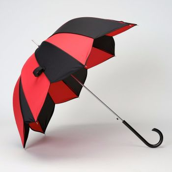 LINDYBOP 'Star' Shape Black Red Star Shaped Umbrella Automatic Button Release