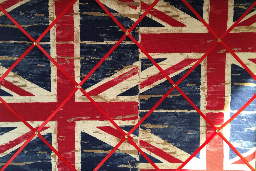 Large 60x40cm Prestigious Union Jack Flag Red Blue Hand Crafted Fabric Noti