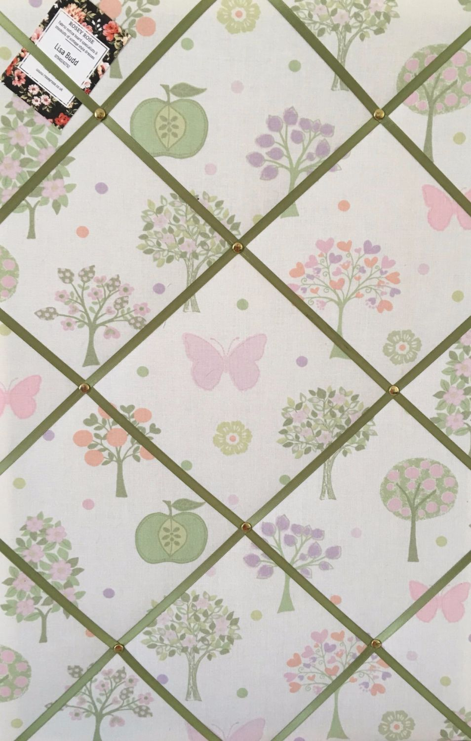Large 60x40cm Laura Ashley Verrtical Esme Apple Butterfly Hand Crafted Fabr