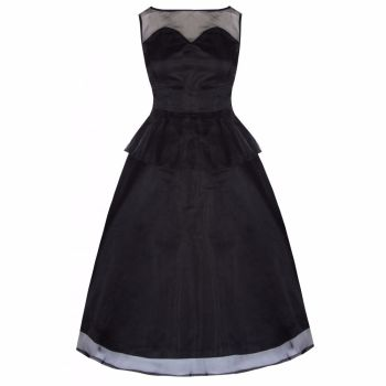 LINDY BOP 'Madison' Glamorous 50's Black Vintage Style Prom Party Cocktail Dress
