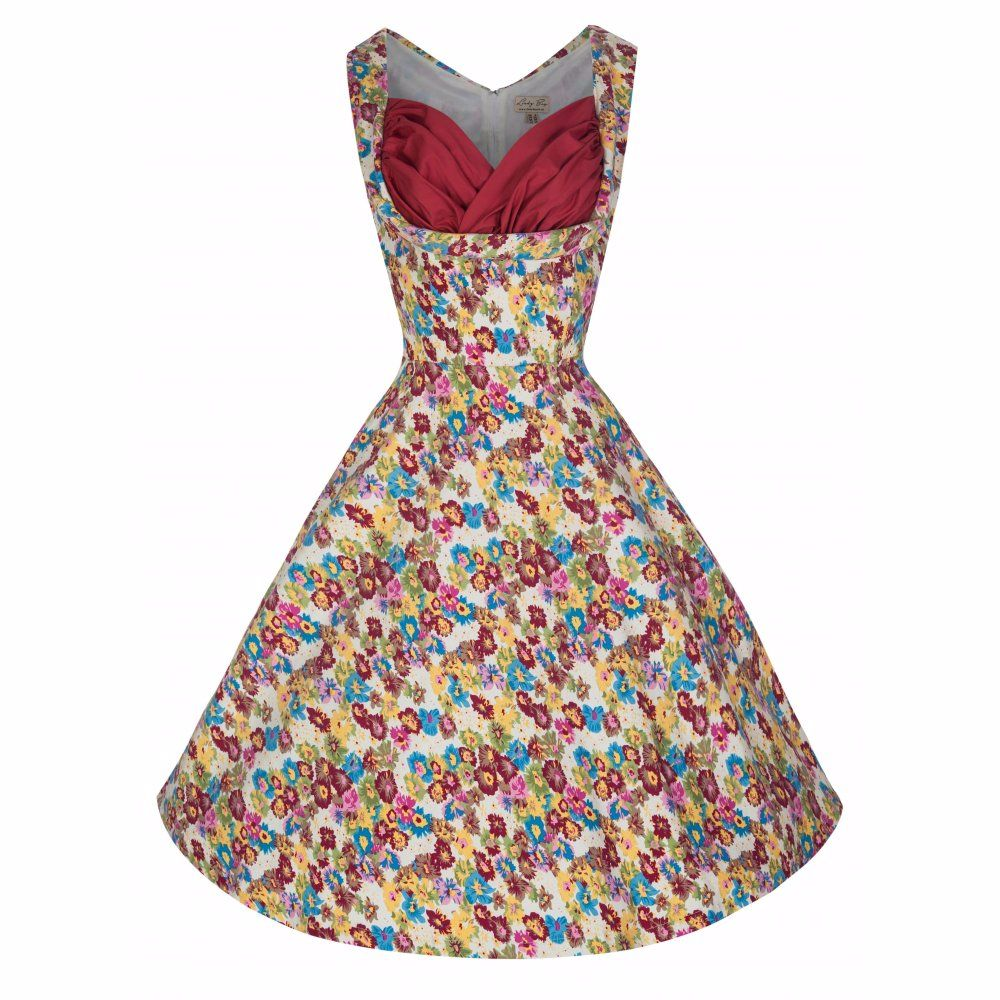 Lindy Bop 'Ophelia' Floral Meadow Vintage Style Swing Dress